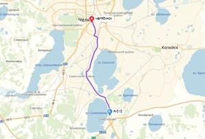 маршрут эвакуатора в челябинске: А-310 - г. Челябинск (27 км), буксир 24